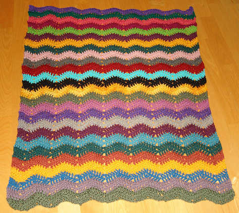 Free Crochet Baby Afghan Edging Patterns : EASY BABY RIPPLE AFGHAN PATTERN Sewing Patterns for Baby